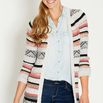 super soft cardigan with stripes