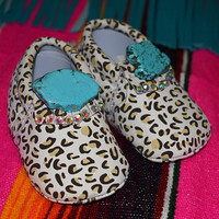 Infant leopard Mocs