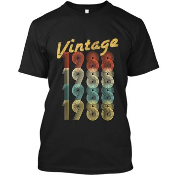 1988 Vintage Funny 30th Birthday Gift  For Him or Her Custom Ultra Cotton