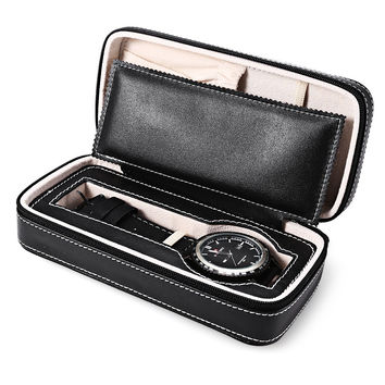 New Fashion Microfiber Travel  Watch Box 1 Slot Zippered High Quality Luxury Storage Case Organizer Convenient For Daily Use
