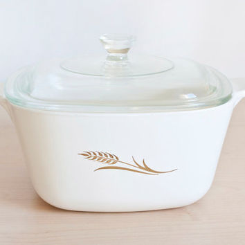 Uncommon Corning Ware Wheat Pattern Casserole, 1 3/4 Quart, Corningware Small Baking Dish