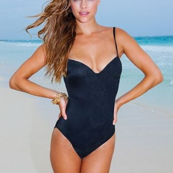 Sauvage Swimwear Nina Designer One Piece Swimsuit