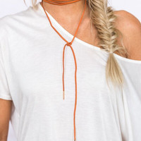 Gypsy Way Choker In Tan
