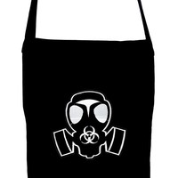 Grey Gas Mask Crossbody Sling Bag Bio Hazard