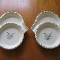 Vintage Seagull Motif China Coaster Ashtray by whimsicalvintage