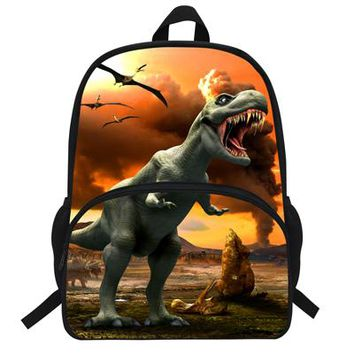 Cool Backpack school 16-Inch Cool Personalized Dinosaur Backpack Casual Teenager Girls Boys School Bag Animal Print Backpack Tyrannosaurus Daypacks AT_52_3