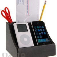 2-Pod Charging Station: Electronic Valet stores and charges two devices.
