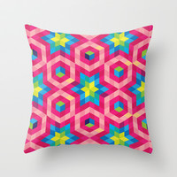 Facets Throw Pillow by Raven Jumpo