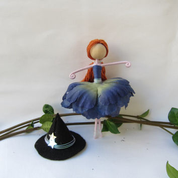 Halloween Witch Doll, Witch Fairy, Flower Fairy Doll, Fall Angel, Blue Princess Fairy, Dancing Fairy.
