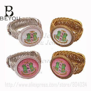 Customized  Bracelet Jewelry for Sorority and Fraternity  spring open style  cuff  bangle Jewelry