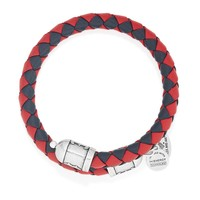 Boston Red Sox Braided Leather Wrap