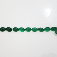 10 Green Agate Oval Cabochons 7x5mm Gemstones 8.40 carat