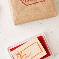 Yellow Owl Workshop To And From Gift Tag Stamp - Urban Outfitters