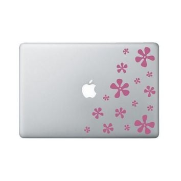Funky Flowers Laptop Decal - Flower Macbook Decal - Laptop Sticker