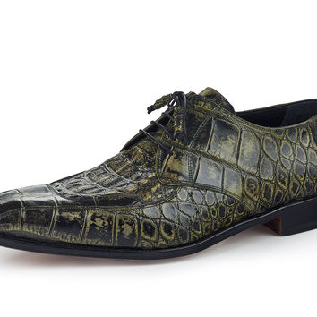 "Mauri - ""1022"" Hand Painted Alligator/Hornback Dress Shoe"