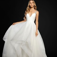 Hayley Paige Dare Embellished Draped Organza Ballgown (In Stores Only) | Nordstrom