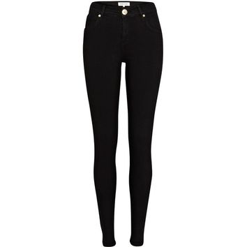 River Island Black Amelie reform superskinny jeans