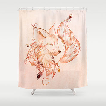 Fox Shower Curtain by LouJah