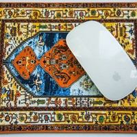 Antique Heriz Persian Rug Miniature Mouse Pad