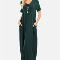 Essential V-Neck Pocket Maxi Dress - More Colors!