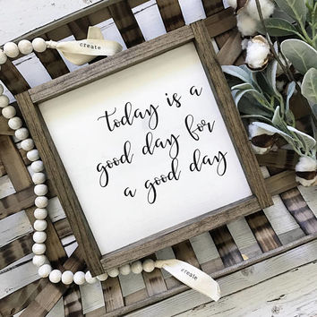 Start Each Day with a Grateful Heart and Today is a Good Day Sign Set, Farmhouse Sign, Inspirational Sign, Fixer Upper Signs, Rustic sign