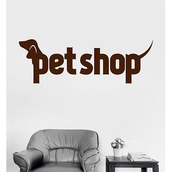 Vinyl Wall Decal Pet Shop Animal Dog Cat Bird Stickers Mural (ig3246)