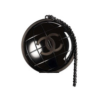 Chanel F/W13 Plexiglas Globe Clutch New