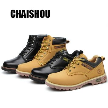 shoes men Work shoes boots Steel toe cap Anti-smashing anti-piercing Men Multifunction Protection Footwear Safety Shoes  CS-380