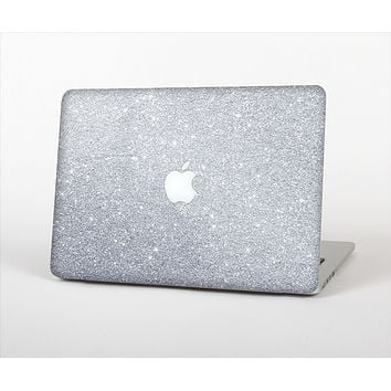 "The Silver Sparkly Glitter Ultra Metallic Skin Set for the Apple MacBook Pro 15"" with Retina Display"