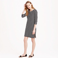 STRIPE SIDE-ZIP TEE DRESS