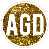 AGD Gold Glitter Circle by rosiestelling