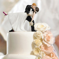 Dancing Bride and Groom Couple Cake Topper