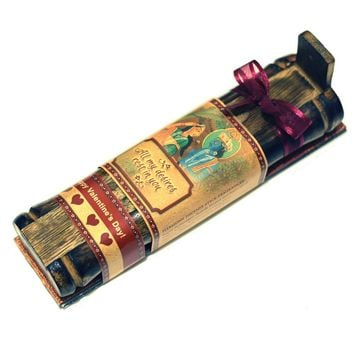Incense Gift Set - Bamboo Burner + 3 Harmony Incense Sticks Packs & Love Greeting - Rest in you