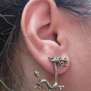 Bronze Dragon Earring