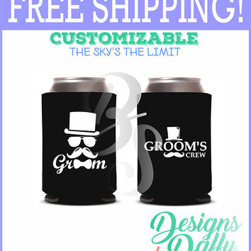 Groom Crew Wedding Party Gifts Wedding Bachel Party Gifts Custom Beverage Can Cooler