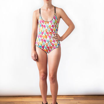 Ice Cream Cones One Piece Swimsuit