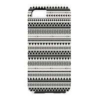 Allyson Johnson Black And White Aztec Pattern Cell Phone Case