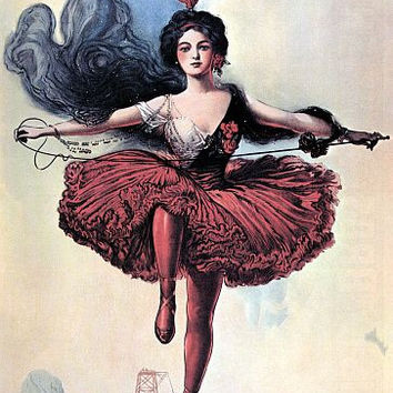 Princess Victoria High Wire Dancer Sells Floto Circus Poster