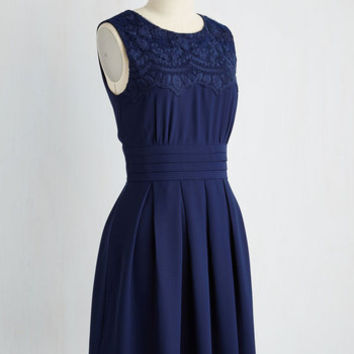 V.I.Pleased A-Line Dress in Navy | Mod Retro Vintage Dresses | ModCloth.com