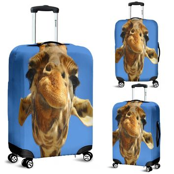Giraffe Lovers Luggage Cover