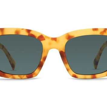 VonZipper - Roscoe Lemon Tortoise Satin Sunglasses / Vintage Grey Lenses
