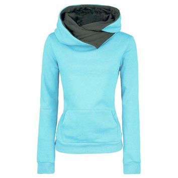 2016 Autumn Winter Women Casual Solid Hoodies Unisex Lapel Hooded New Sweatshirts Pullovers Turn-down Collar