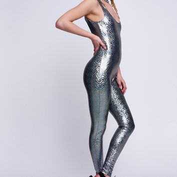 Silver Hologram Catsuit