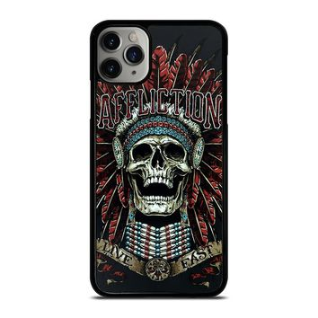 AFFLICTION SKULL INDIAN iPhone Case Cover