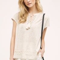 Eri + Ali Vega Crochet Blouse in Neutral Size: