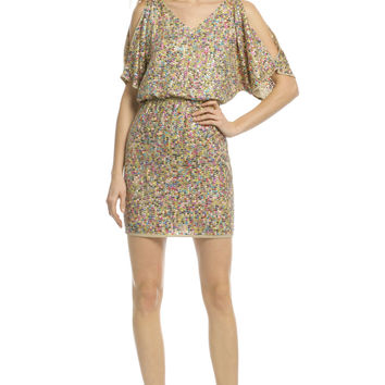 Trina Turk Vega Multi Sequin Dress