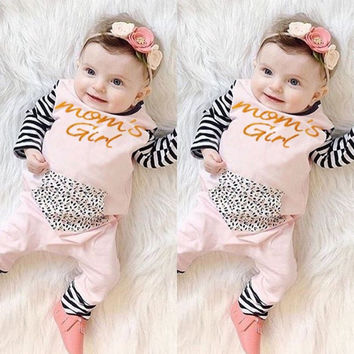 Newborn Baby Girls Clothing Cotton Romper Long Sleeve Cotton Cute Girl Jumpsuit Outfits Striped Clothes