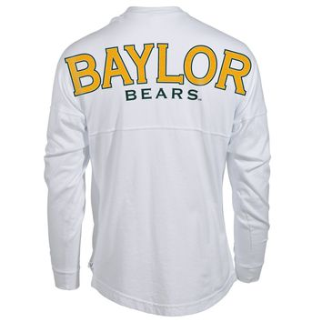 Official NCAA Baylor University Bears Judge Joy Women's Long Sleeve Spirit Wear Jersey T-Shirt