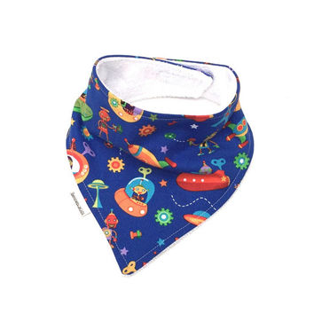 Drool Bib - Baby Bandana Bib - Boys Teething Bib - Blue Baby Bib - Baby Bib - Baby Shower Gift - Bandana Scarf - Teething Bib - Baby Boy