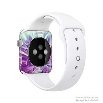 The Vivid Purple Flower Full-Body Skin Set for the Apple Watch